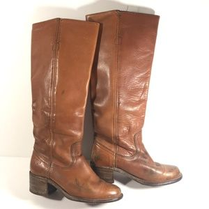 Frye Leather Vintage Campus Boots 6502 size 5